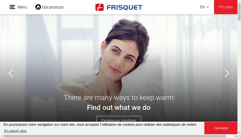 Capture d'écran du site de Frisquet SA