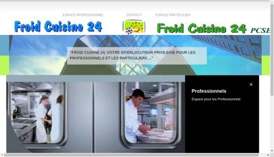 Capture d'écran du site de Froid Cuisine 24
