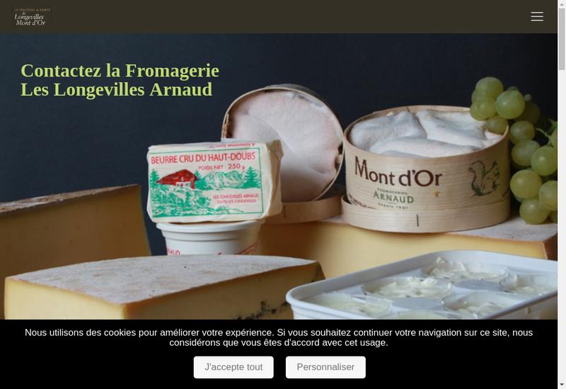 Capture d'écran du site de SCA de Fromagerie Longevilles Mont DO