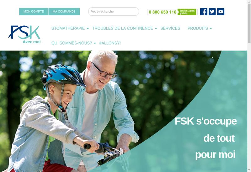Capture d'écran du site de FSK