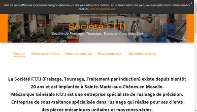 Site internet de Mecanique Generale Ftti