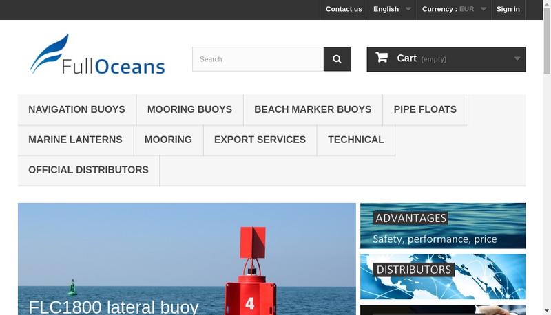 Capture d'écran du site de Fulloceans