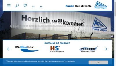 Site internet de Funke France
