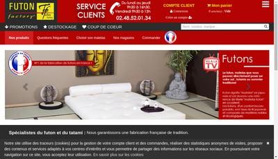 Site internet de Blanc des Vosges Futon Factory