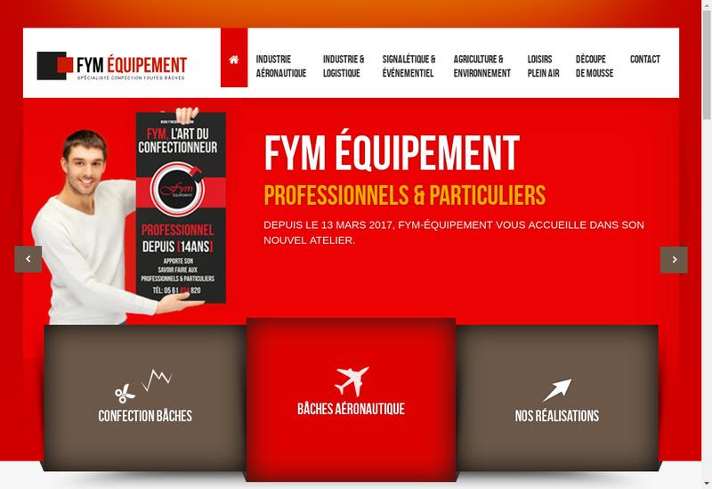 Capture d'écran du site de Fym Equipement