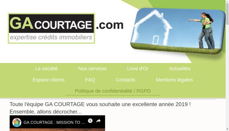 Capture d'écran du site de Ga Courtage