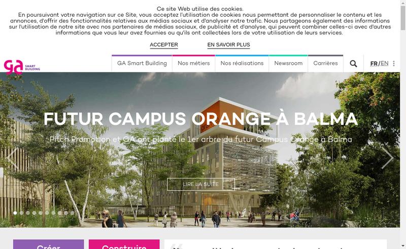 Capture d'écran du site de Ga
