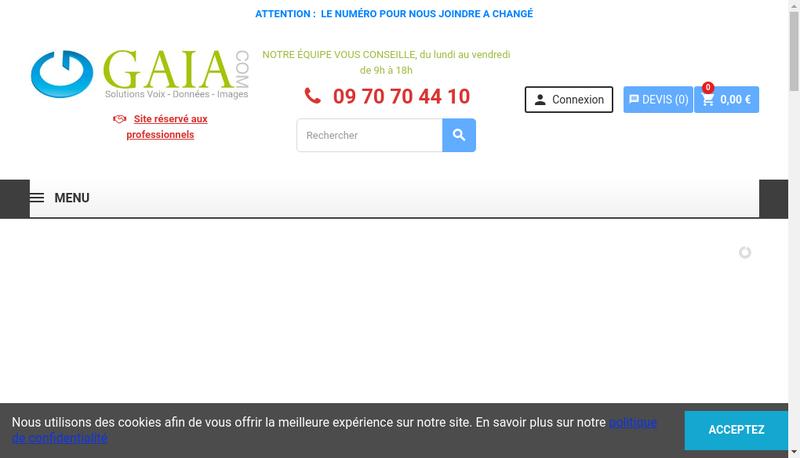 Capture d'écran du site de BDMS