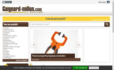 Site internet de Etablissements Gaignard Millon Quinc