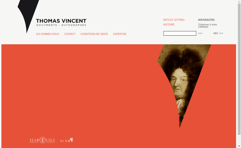 Capture d'écran du site de Le Neuvieme Manuscrit