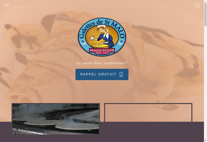 Capture d'écran du site de SARL les Galettes de Saint Malo