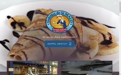 Site internet de Sarl les Galettes de Saint Malo