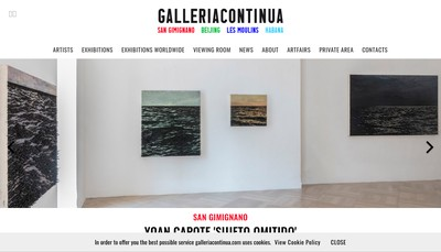 Site internet de Galleria Continua