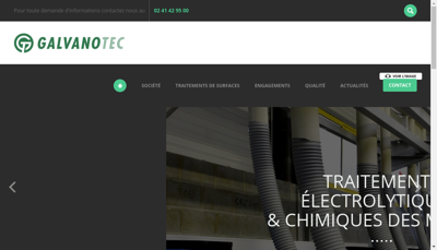 Capture d'écran du site de Galvanotec