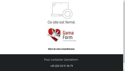 Site internet de SARL Gama Form