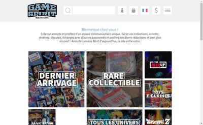 Site internet de Gamespirit