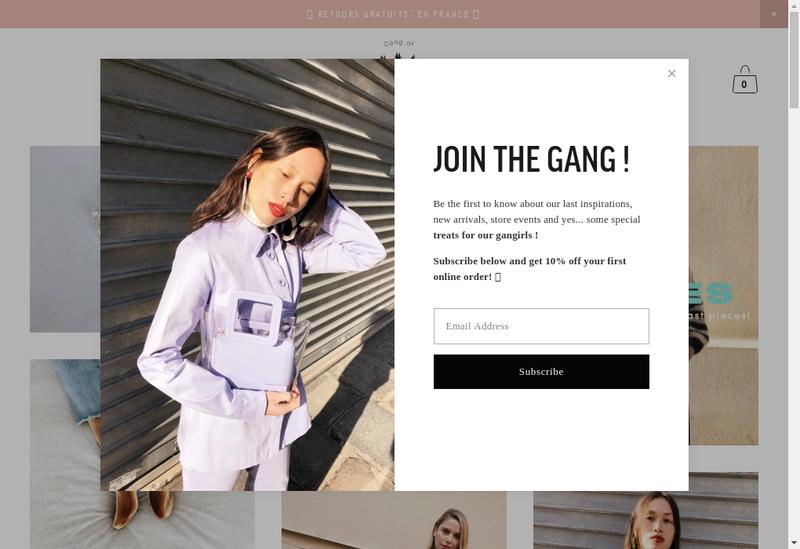 Capture d'écran du site de Gang Of Earlybirds