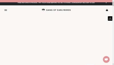 Site internet de Gang Of Earlybirds