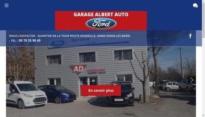 Site internet de Albert Auto