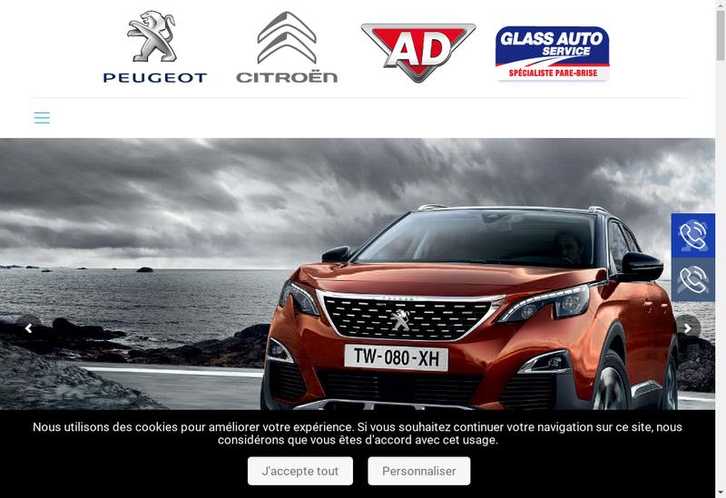 Capture d'écran du site de Automobiles Cdr