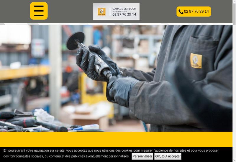 Capture d'écran du site de Garage le Floch