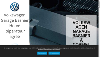 Capture d'écran du site de Garage Basnier