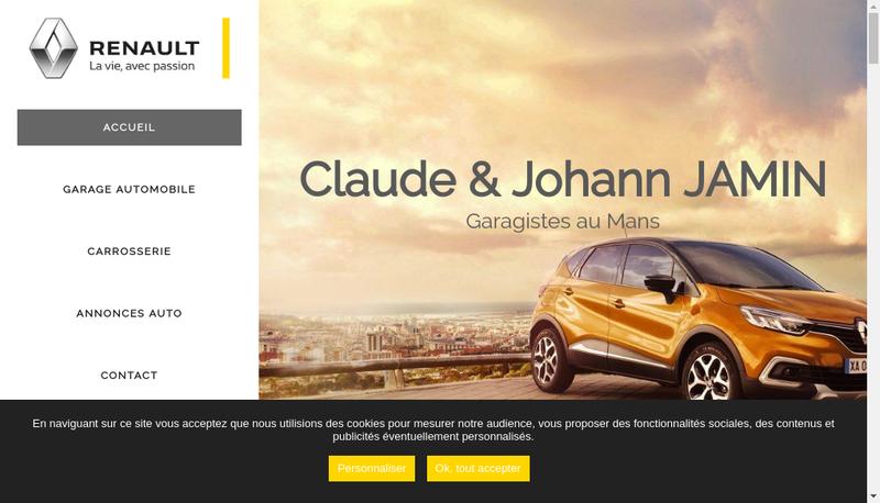 Capture d'écran du site de Renault Bener SA