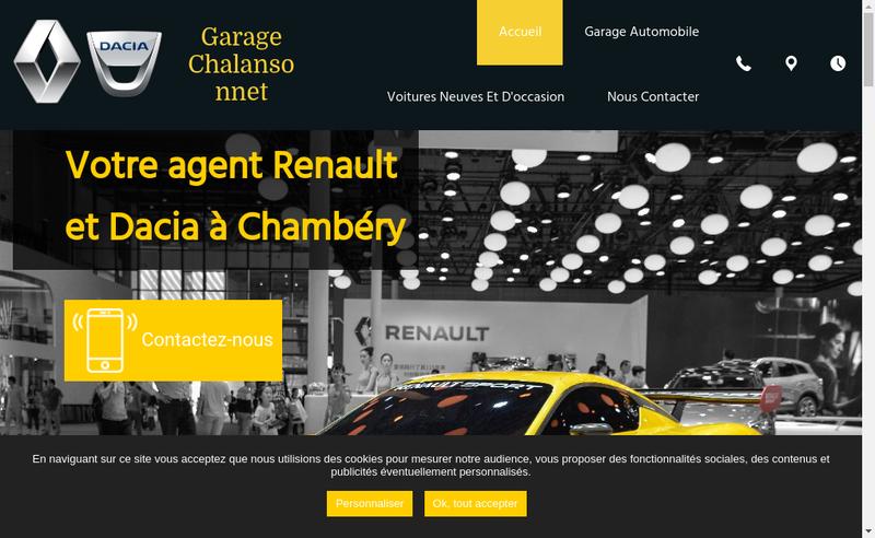 Capture d'écran du site de Garage Chalansonnet