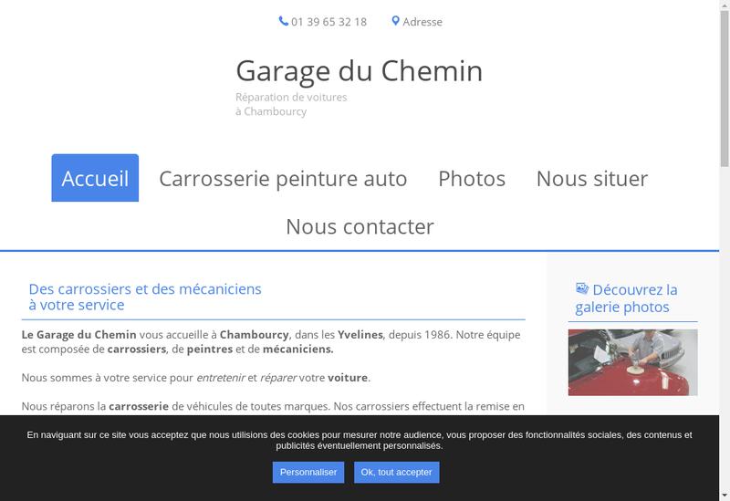 Capture d'écran du site de Garage du Chemin