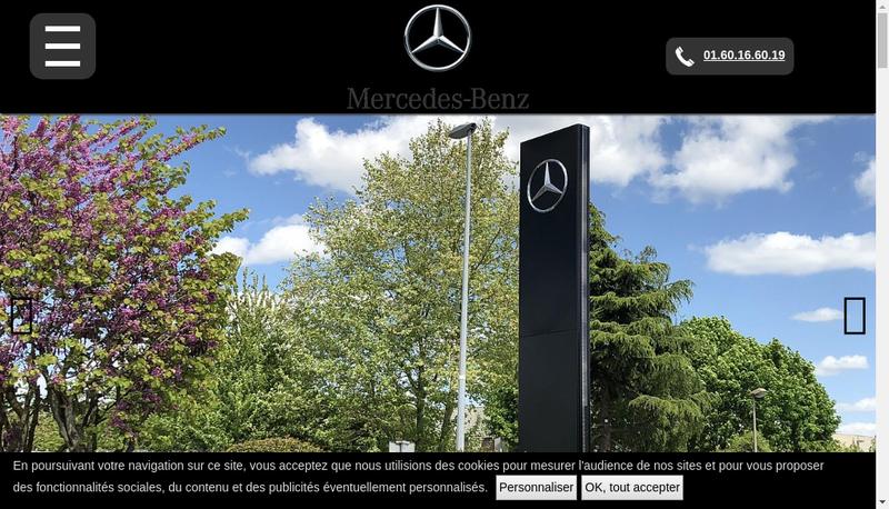 Capture d'écran du site de Garage de la Mariniere