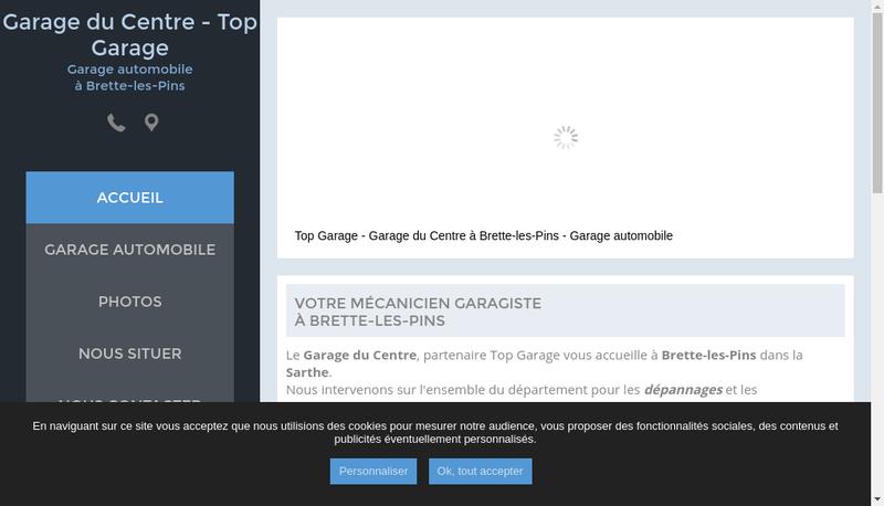 Capture d'écran du site de Garage du Centre