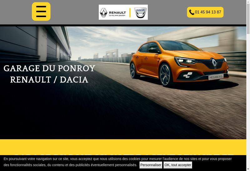 Capture d'écran du site de Garage du Ponroy