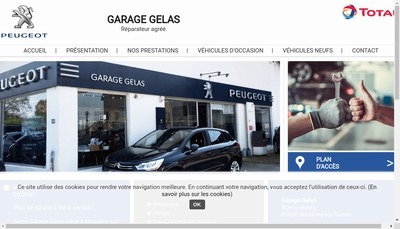 Site internet de Garage Gelas