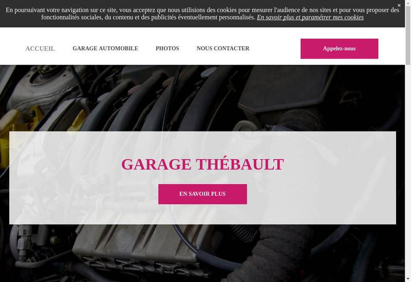 Capture d'écran du site de Garage Thebault