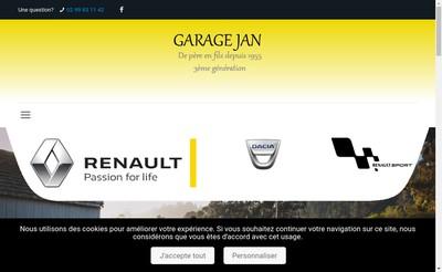 Site internet de Garage Jan