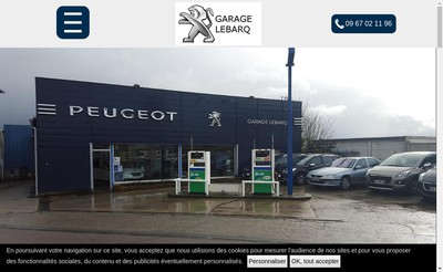Site internet de Garage Lebarq