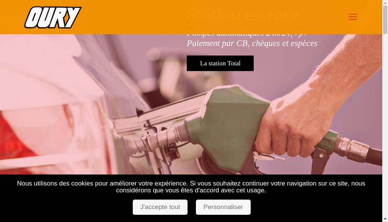 Capture d'écran du site de Garage Oury