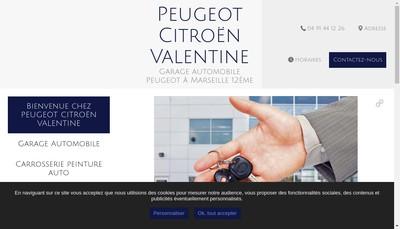 Site internet de Peugeot Valentine