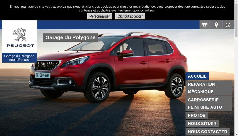 Capture d'écran du site de Garage du Polygone