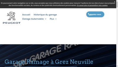 Site internet de Garage Ramage