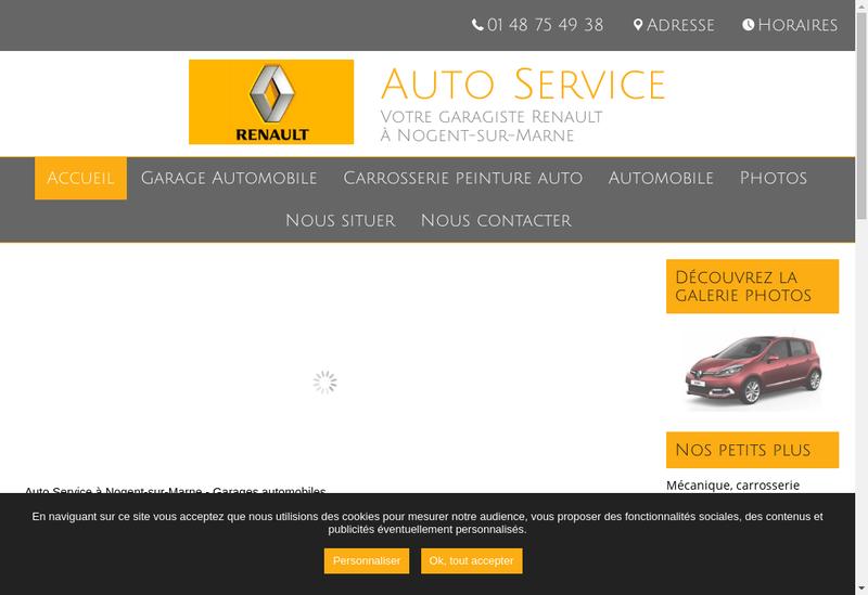 Capture d'écran du site de Auto Service