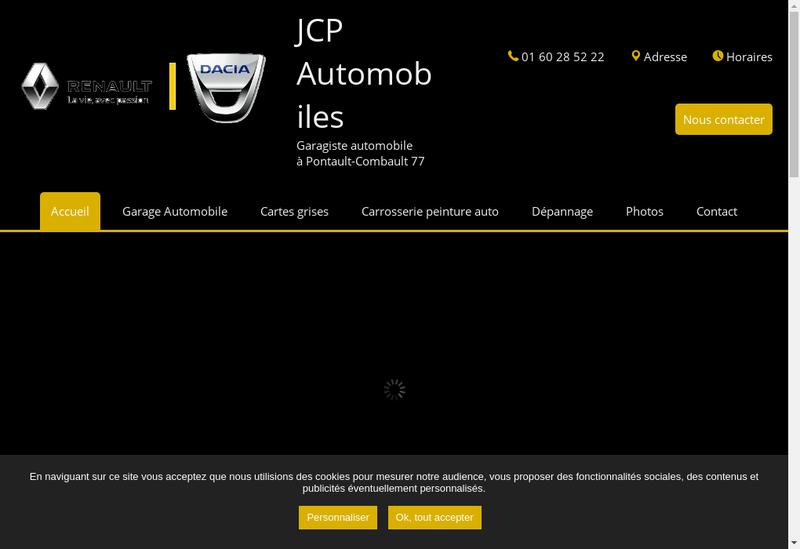 Capture d'écran du site de Jcp Automobiles