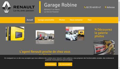 Capture d'écran du site de Garage Robine