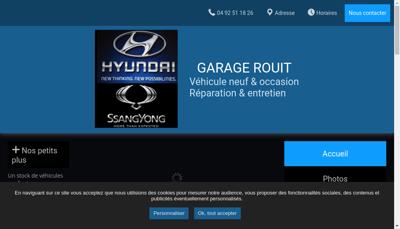 Capture d'écran du site de Garage Rouit Georges