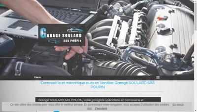 Capture d'écran du site de Garage Soulard