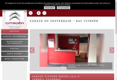 Site internet de Garage du Souterrain