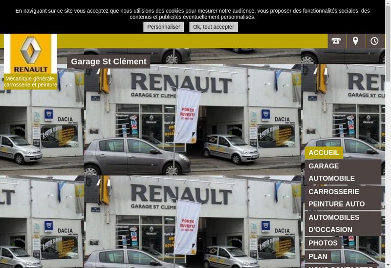 Capture d'écran du site de Garage Saint Clement
