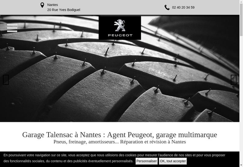 Capture d'écran du site de Talensac