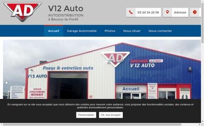 Site internet de V12 Auto