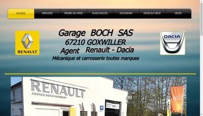 Site internet de Garage Boch